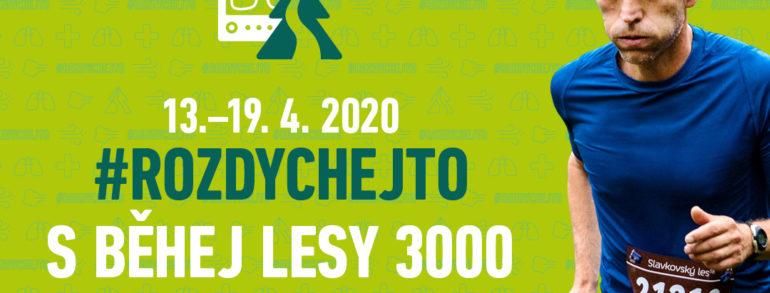 #rozdychejto s Běhej lesy 3000 a podpoř plicní oddělení nemocnic po celé republice
